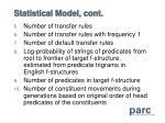 statistical model cont