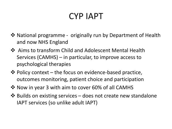 CYP IAPT
