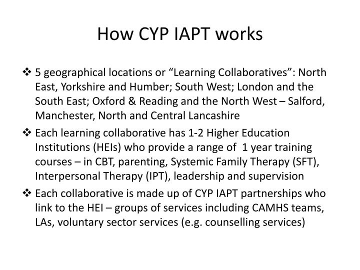 How CYP IAPT works