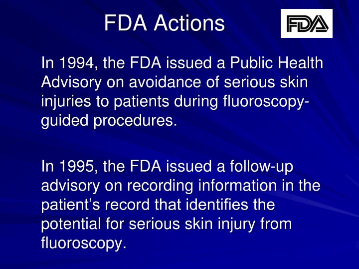 FDA Actions