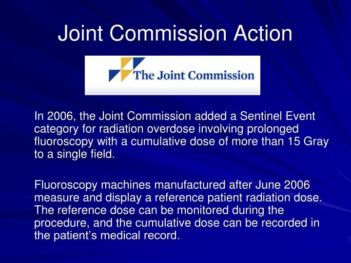 Joint Commission Action