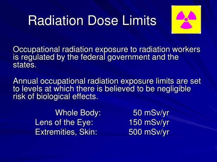 Radiation Dose Limits