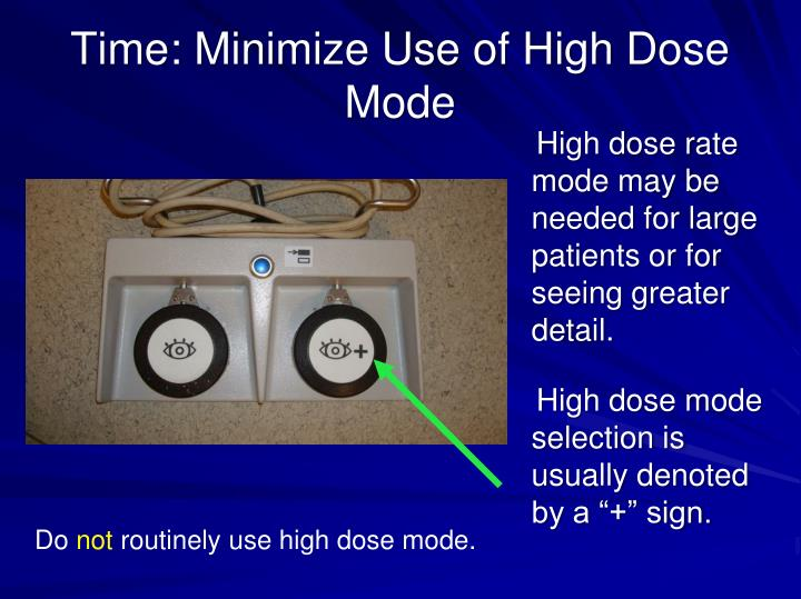 Time: Minimize Use of High Dose Mode