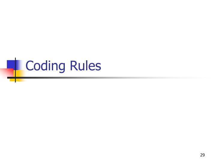 Coding Rules