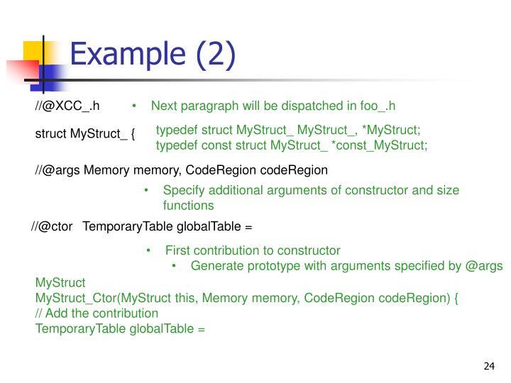 Example (2)