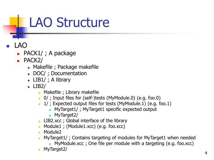 LAO Structure