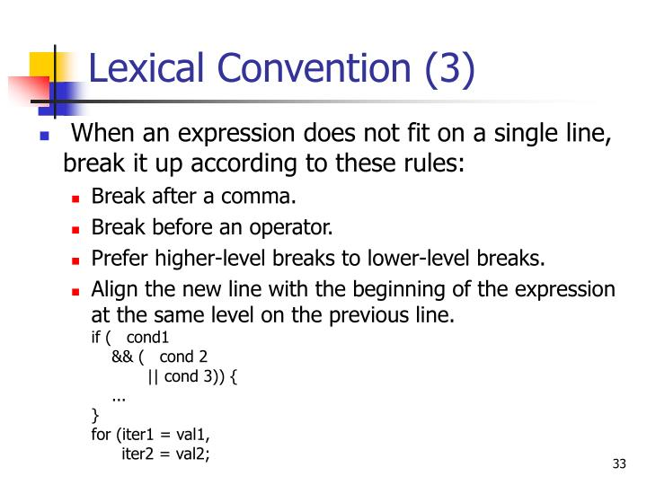 Lexical Convention (3)