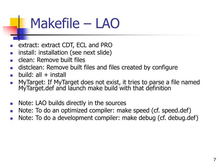 Makefile – LAO