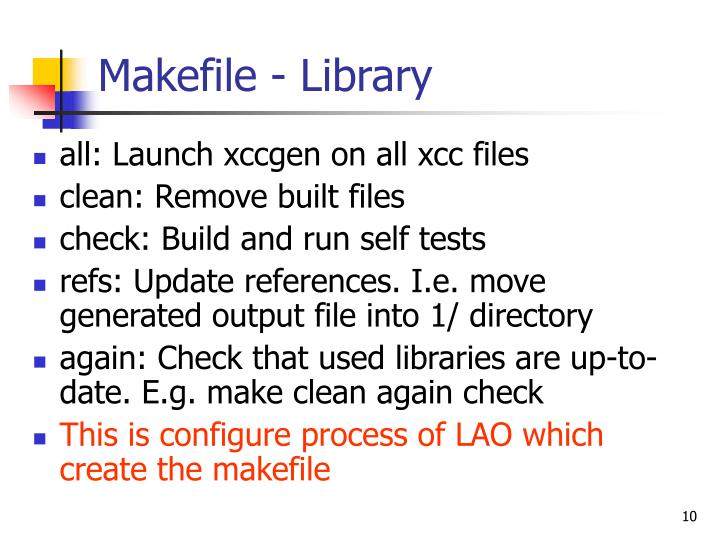 Makefile - Library