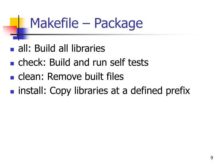Makefile – Package