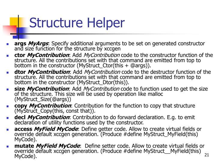 Structure Helper