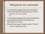 obligations de conformit