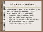 obligations de conformit1