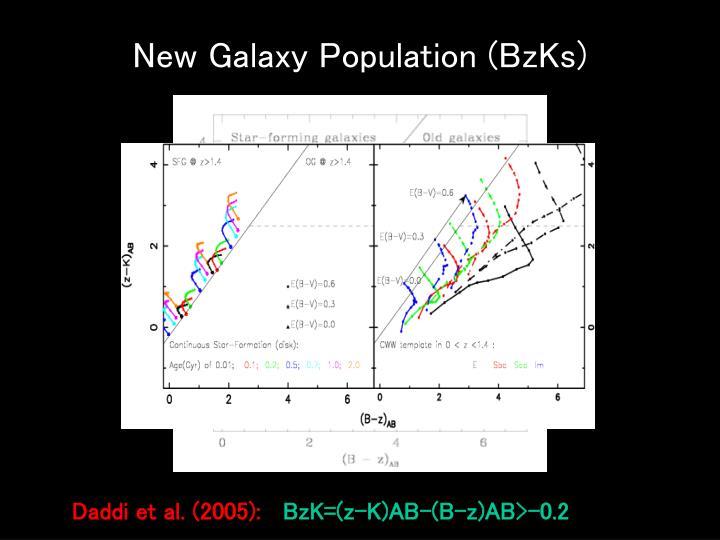 New Galaxy Population (BzKs)