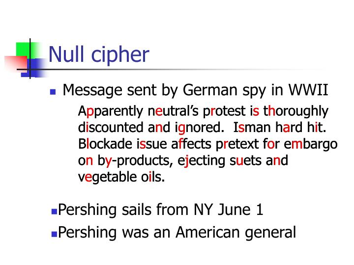 Null cipher