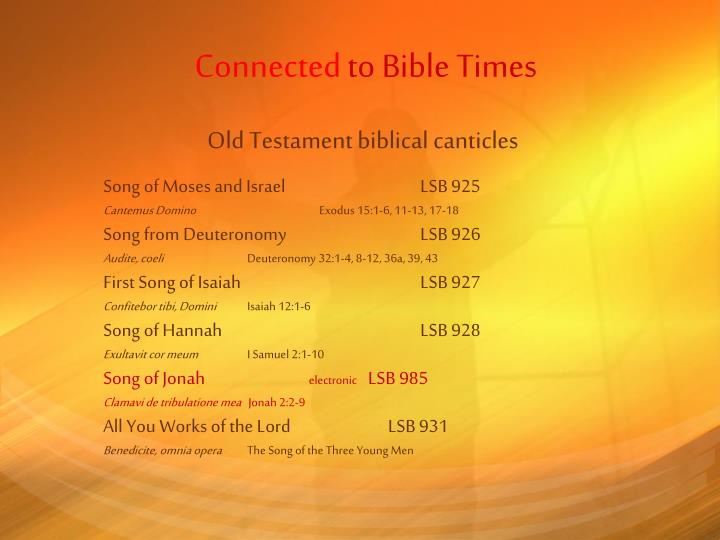 Connected to bible times1