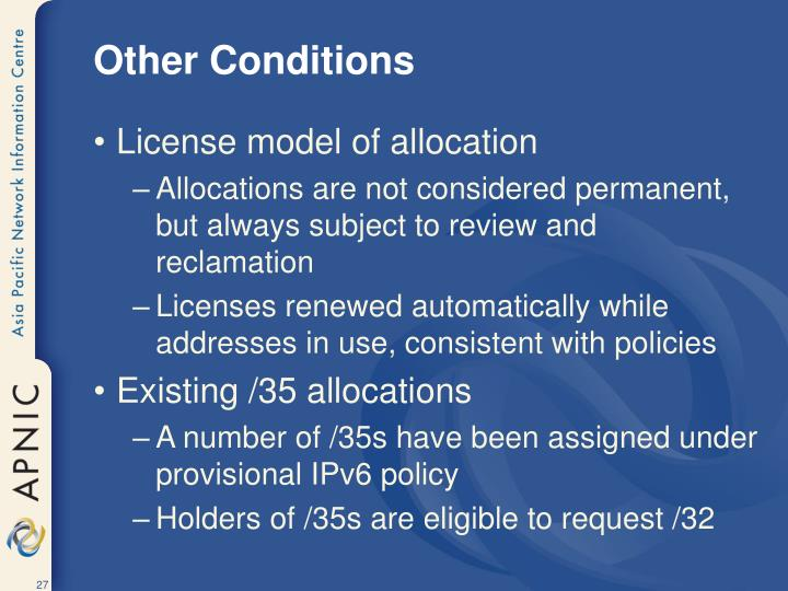 Other Conditions