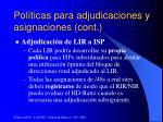 pol ticas para adjudicaciones y asignaciones cont9