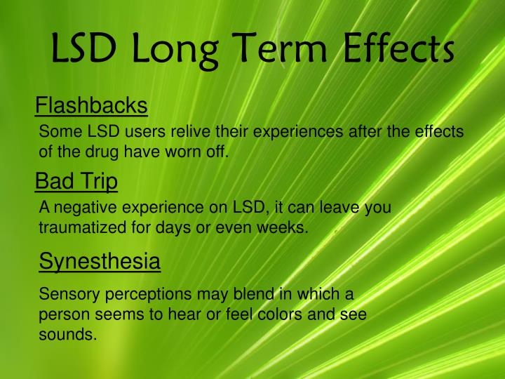 LSD Long Term Effects