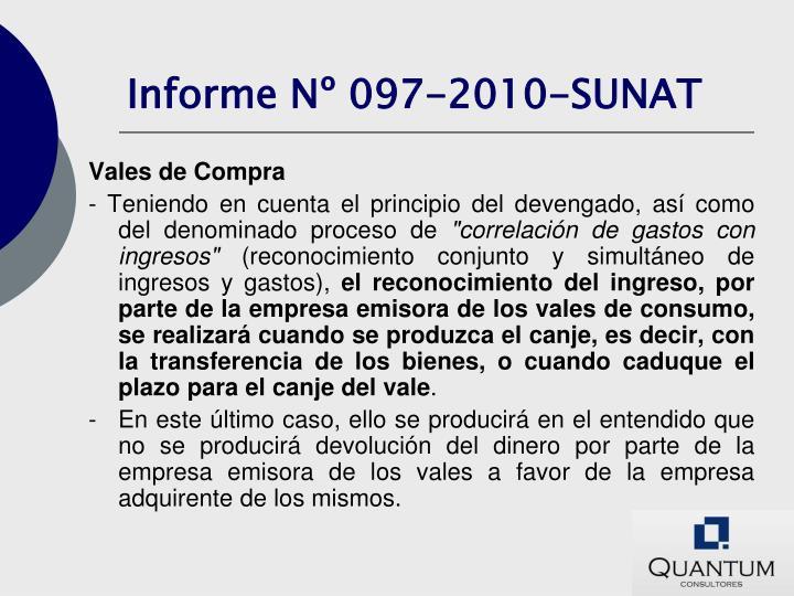 Informe Nº 097-2010-SUNAT