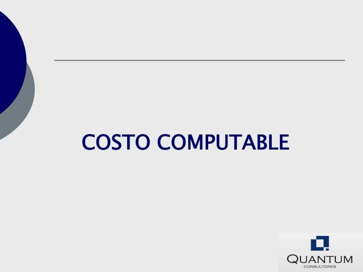 COSTO COMPUTABLE