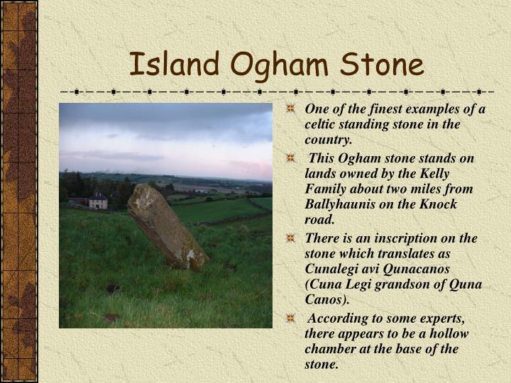 Island Ogham Stone