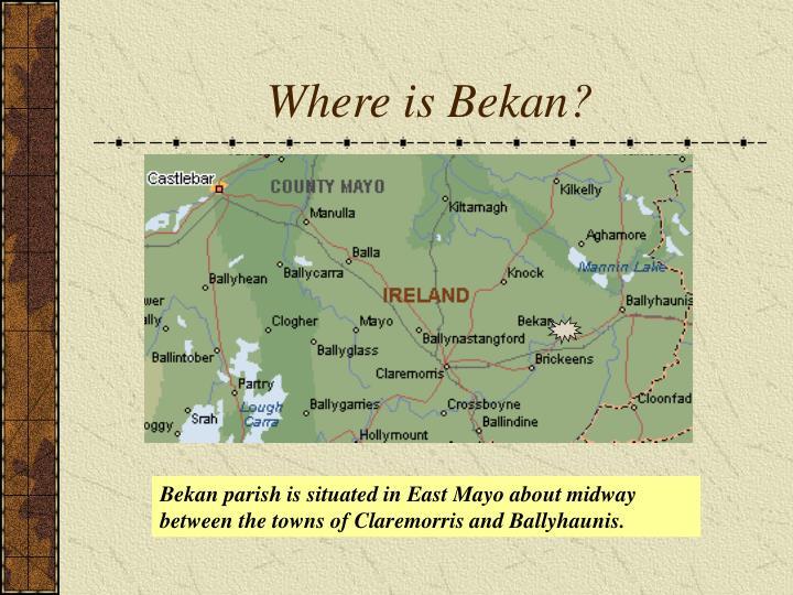 Where is bekan