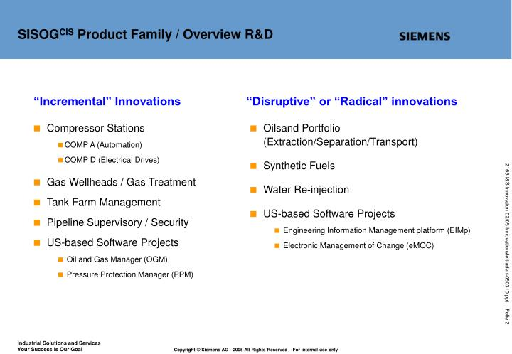 Sisog cis product family overview r d