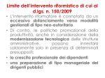 limite dell intervento riformistico di cui al d lgs n 150 20091