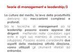 teorie di management e leadership 3