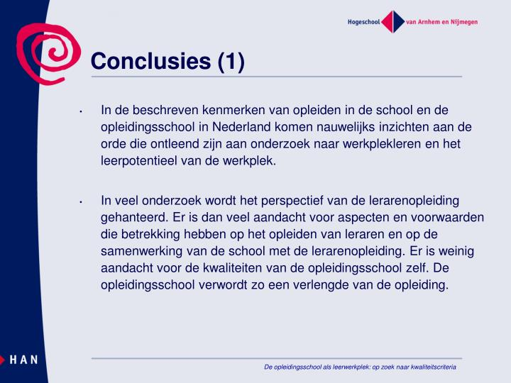 Conclusies (1)