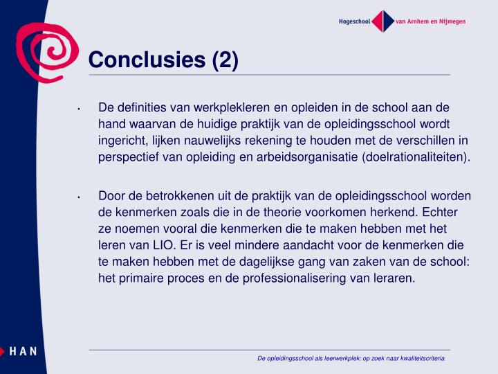 Conclusies (2)