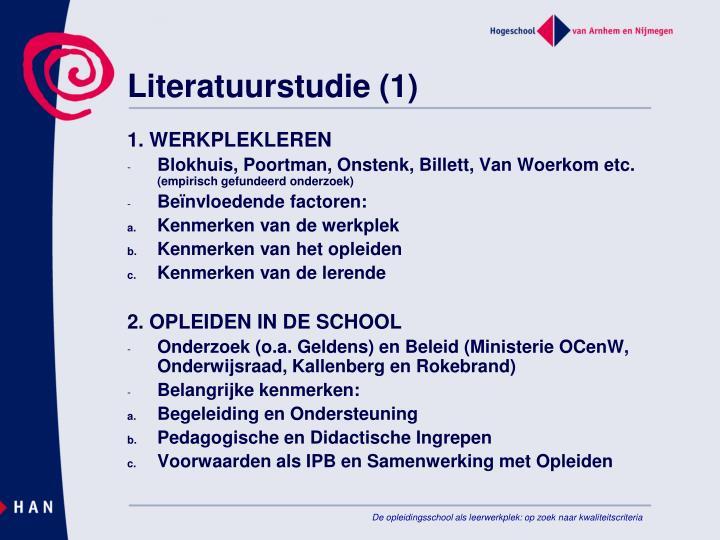 Literatuurstudie (1)