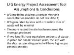 lfg energy project assessment tool assumptions conclusions