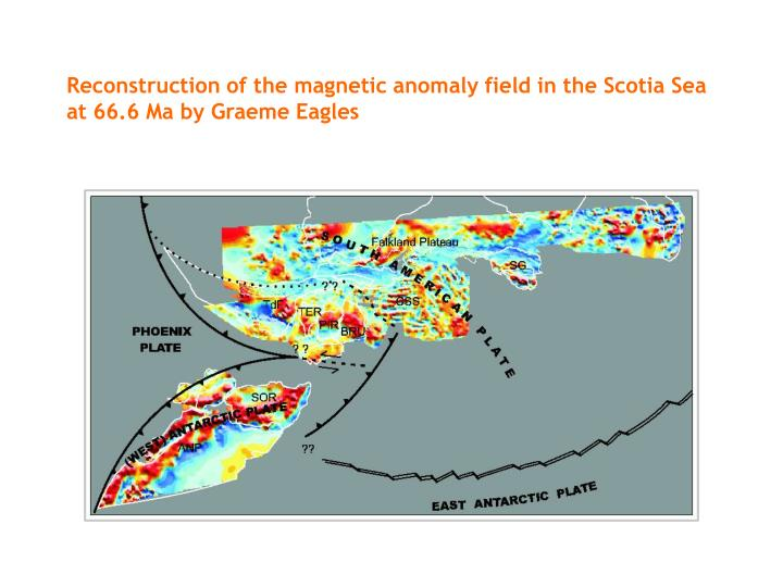 Reconstruction of the magnetic anomaly field in the Scotia Sea at 66.6 Ma by Graeme Eagles