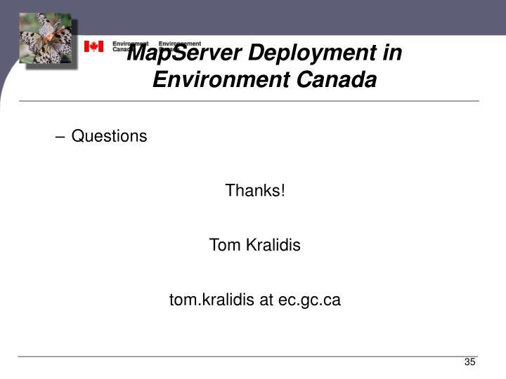 MapServer Deployment in