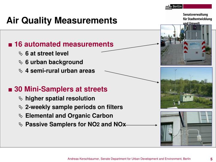 Air Quality Measurements
