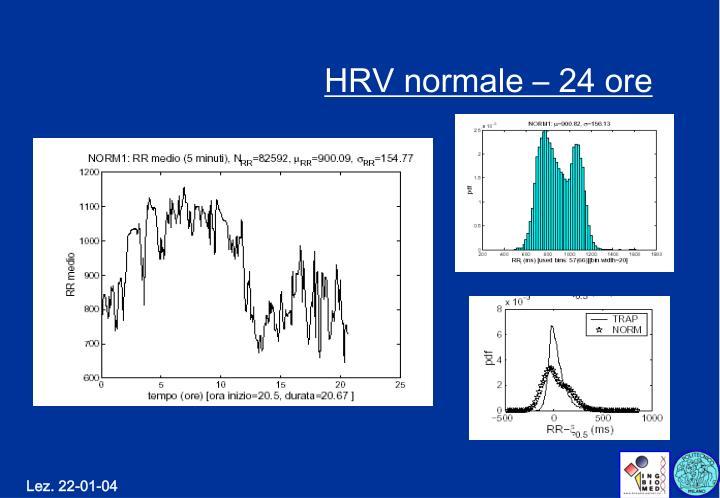 HRV normale – 24 ore