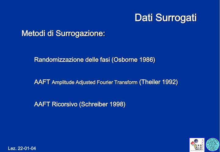 Dati Surrogati