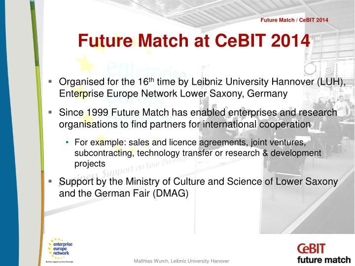 Future match at cebit 2014