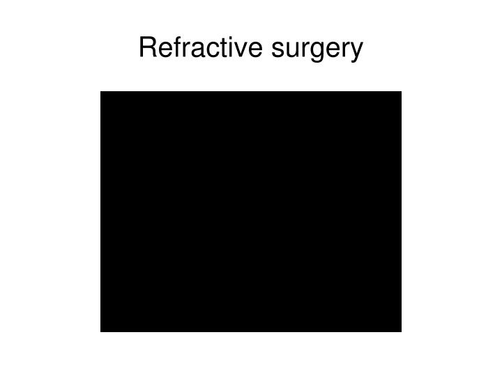 refractive surgery n.