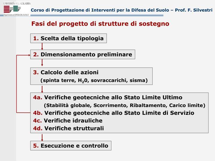 corso di progettazione di interventi per la difesa del suolo prof f silvestri n.