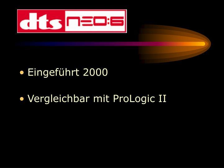 Eingeführt 2000