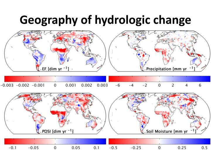 Geography of hydrologic change