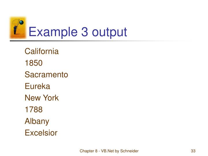 Example 3 output