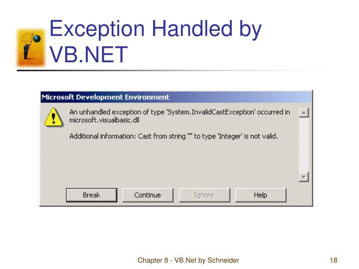 Exception Handled by VB.NET