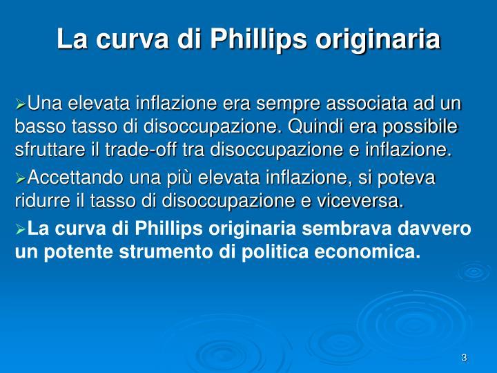 La curva di phillips originaria