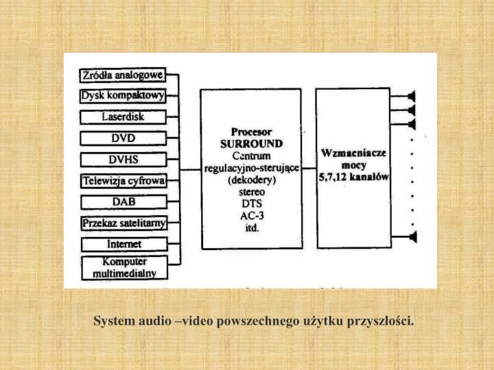 System audio –video powszechnego użytku przyszłości.