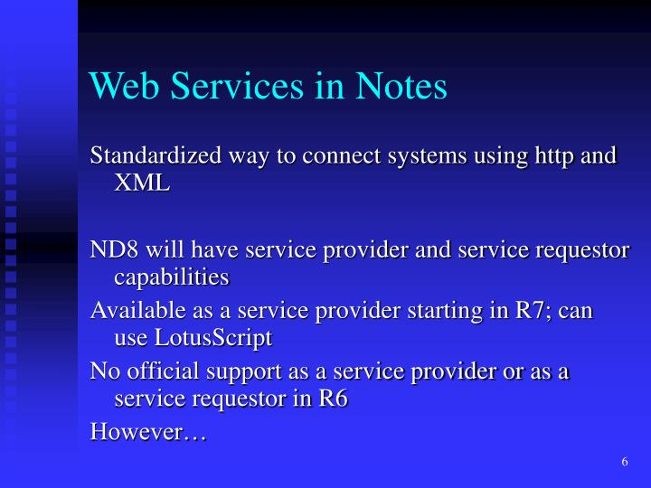 Web Services in Notes