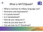 what is natospeak
